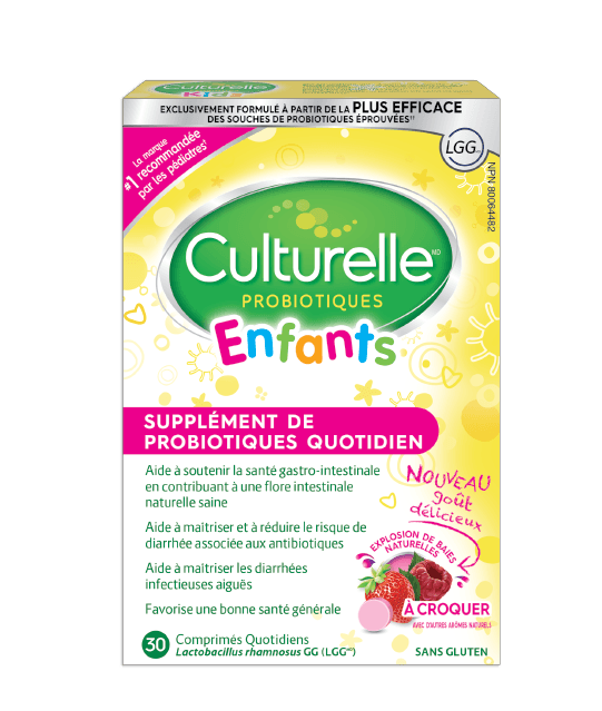 Back of Culturelle® Probiotics Kids Chewables Box