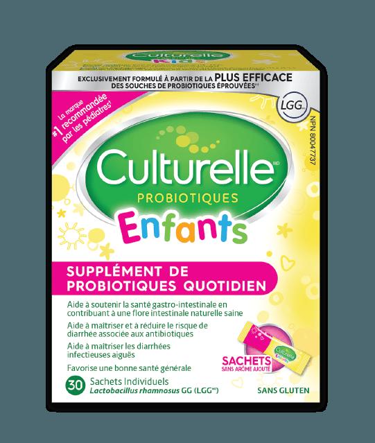 Verso de la boîte de paquets quotidiens pour enfants des probiotiques Culturelle