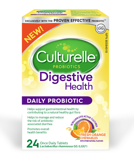 Support good digestive health with a great tasting orange chewable!*