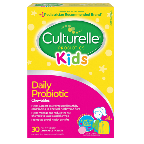 Culturelle® Probiotics Kids Daily Probiotic Berry Chewables English Package
